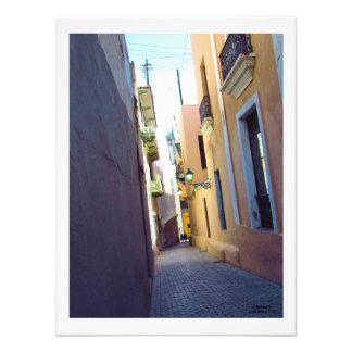 Impression Photo Une rue isolée à vieux San Juan