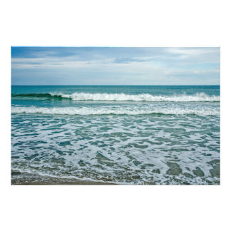Impression Photo Vagues de roulement vertes et vagues vives