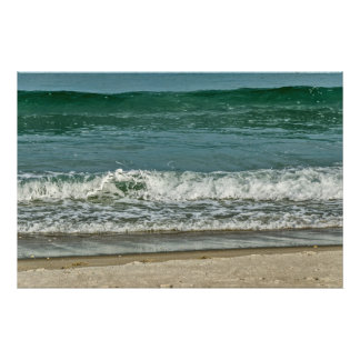 Impression Photo Vagues entrantes sur une plage de la Floride