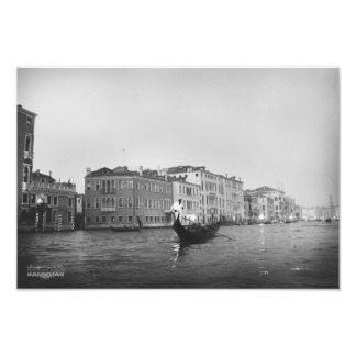 Impression Photo Venise dans noir et le blanc