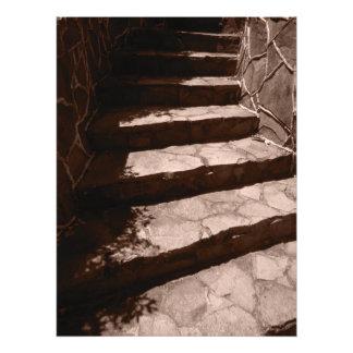 Impression Photo vieilles étapes en pierre