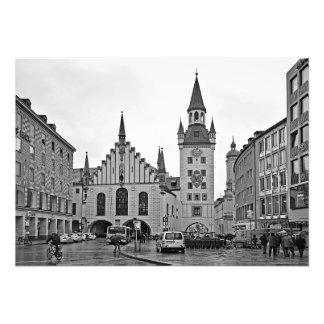 Impression Photo Vieux hôtel de ville à Munich