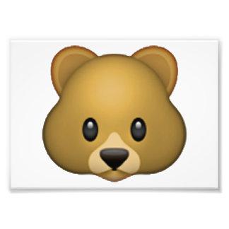 Impression Photo Visage choqué avec la tête de explosion - Emoji