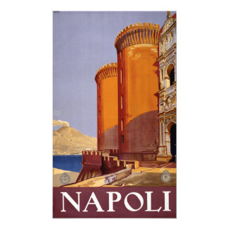 Impression Photo Voyage vintage de Napoli Italie Naples Italie