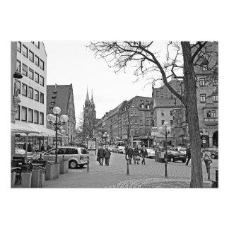 Impression Photo Vue de la rue de Königsstraße à Nuremberg