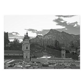 Impression Photo Vue de Salzbourg parmi les montagnes