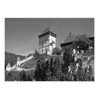 Impression Photo Vue du château gothique Karlštejn.