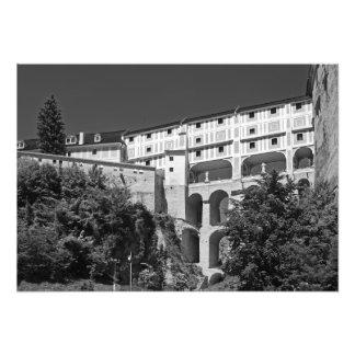 Impression Photo Vue d'un imperméable dans le château de Cesky