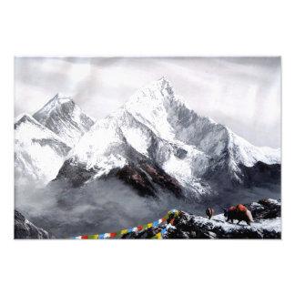 Impression Photo Vue panoramique de montagne d'Everest