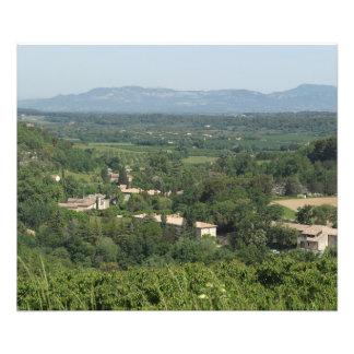 Impression Photo Vue sur la vallée de Venasque et les montagnes