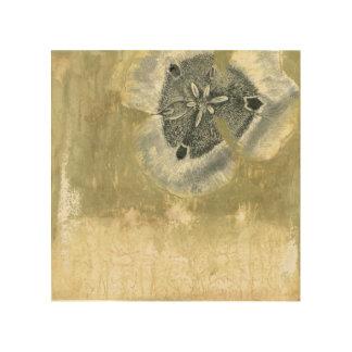 Impression Sur Bois Abrégé sur Flowerhead avec la texture vitrée