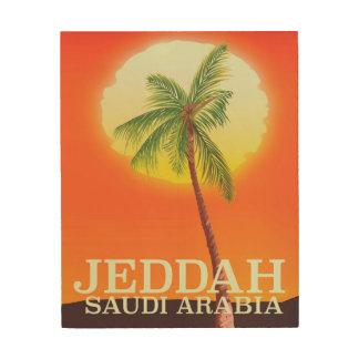 Impression Sur Bois Affiche de vacances de Jeddah Arabie Saoudite