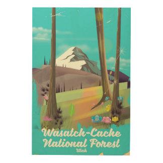 Impression Sur Bois Affiche de vacances de l'Utah de réserve