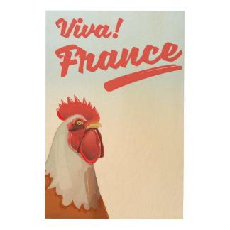 Impression Sur Bois Affiche de voyage de coq de la France