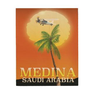 Impression Sur Bois Affiche de voyage de la Médina Arabie Saoudite
