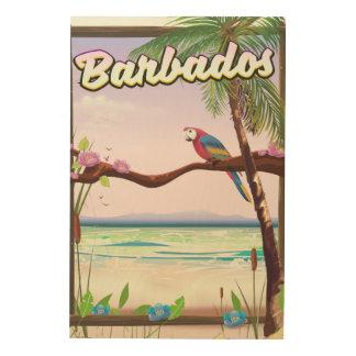 Impression Sur Bois Affiche de voyage de paysage de perroquet des