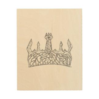 Impression Sur Bois Affiche royale en bois