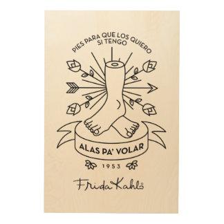 Impression Sur Bois Ailes de Frida Kahlo | à voler