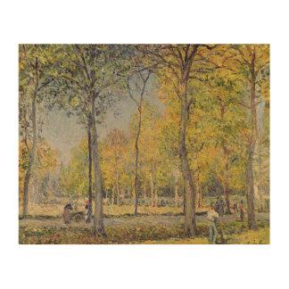 Impression Sur Bois Alfred Sisley   le Bois de Boulogne
