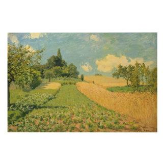 Impression Sur Bois Alfred Sisley   le champ de maïs