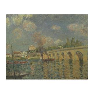 Impression Sur Bois Alfred Sisley   le pont