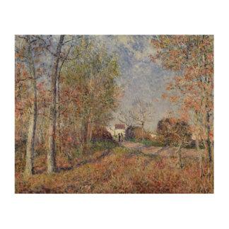 Impression Sur Bois Alfred Sisley   un coin des bois chez Sablons