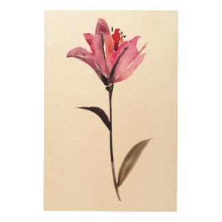 Impression Sur Bois Aquarelle florale II