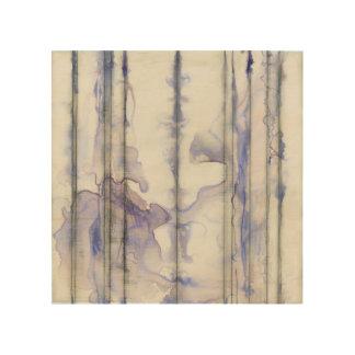 Impression Sur Bois Aquarelle libre d'expression de violette