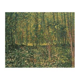 Impression Sur Bois Arbres de Vincent van Gogh | et broussaille, 1887