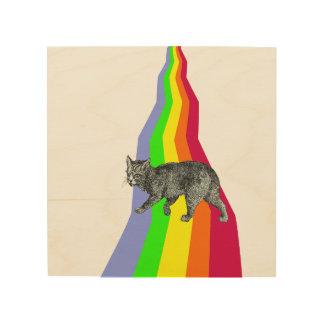Impression Sur Bois ARC-EN-CIEL aux chats de CIEL