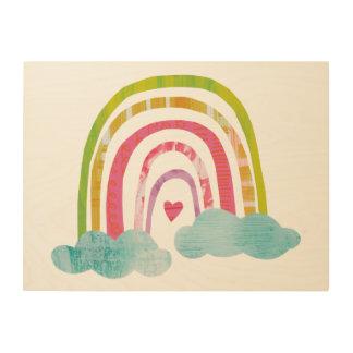Impression Sur Bois Arc-en-ciel magique