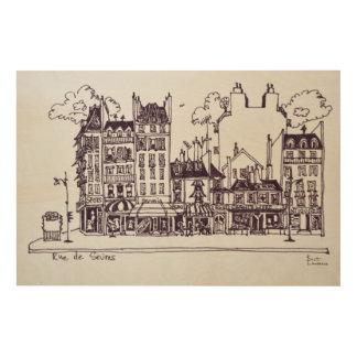 Impression Sur Bois Architecture | Rue de Sevres de Haussmann