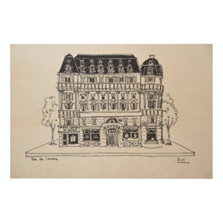 Impression Sur Bois Architecture | Rue du Louvre, Paris de Haussmann