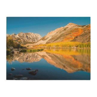 Impression Sur Bois Automne au lac du nord, la Californie