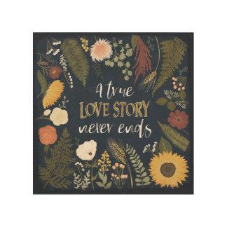 Impression Sur Bois Automne V Romance   que Love Story vrai ne finit