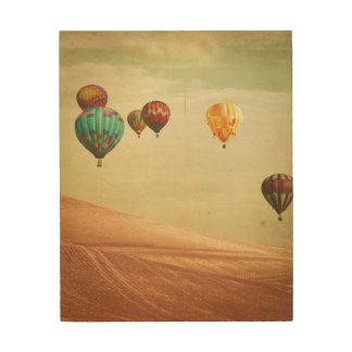 Impression Sur Bois Ballons à air chauds dans le ciel
