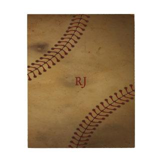 Impression Sur Bois Base-ball vintage