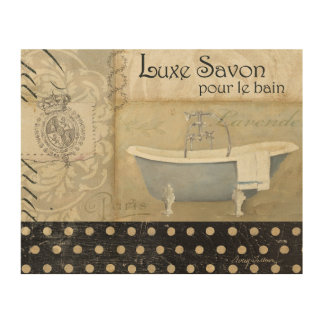 Impression Sur Bois Bath français vintage