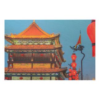 Impression Sur Bois Bâtiment de mur de ville de Xi'an