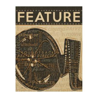 Impression Sur Bois Bobine de film vintage