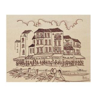Impression Sur Bois Bord de mer | Cassis, France de restaurants
