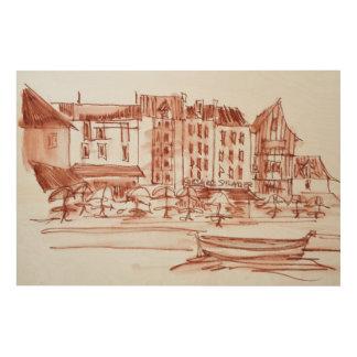 Impression Sur Bois Bord de mer dinant | Concarneau, la Bretagne,