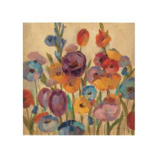 Impression Sur Bois Bouquet des fleurs colorées