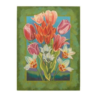 Impression Sur Bois Bouquet en frontière III