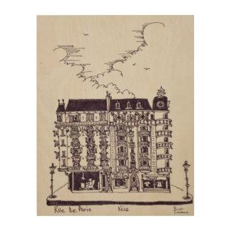 Impression Sur Bois Café et magasins sur vieux Nice de la rue De Paris