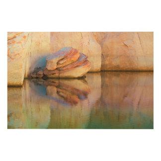 Impression Sur Bois Canyon souillé de gorge du mur | de grès, UT