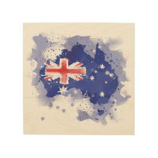 Impression Sur Bois Carte d'aquarelle de l'Australie