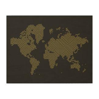 Impression Sur Bois Carte du monde de Digitals
