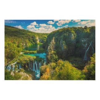 Impression Sur Bois Cascade élégante pittoresque, Croatie