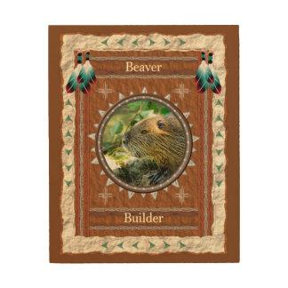 Impression Sur Bois Castor - toile en bois de constructeur
